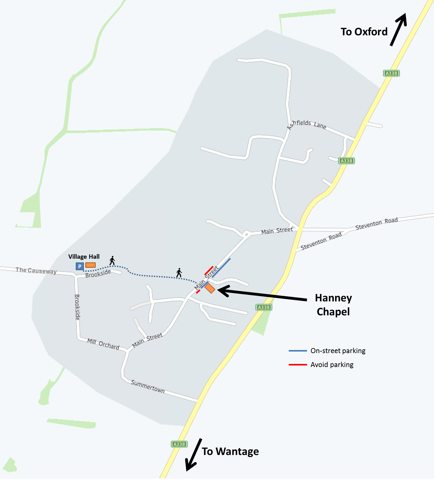 Click to enlarge map of East Hanney